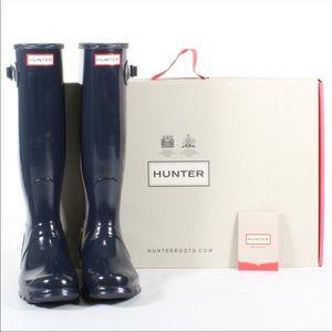 Hunter Women's Authentic Tall Gloss Rain Boot Sz.8